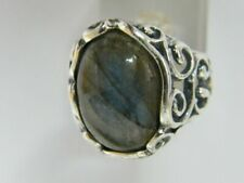 Fine Sterling Silver 925 Ring Cocktail Blue/green Labradorite Jewelry