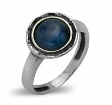 Modern Fine Sterling Silver 925 Ring Cocktail blue kyanite