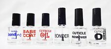EMPTY Nail Polish Bottle PRE-PRINTED Labeled .5oz/15mL - CLEAR BOTTLE 2CT