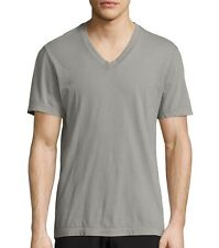 James Perse Men's Short Sleeve V Neck Tee Relaxed Fit DAPP Grey USA $60 msrp NWT