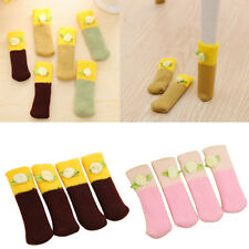 4 Pcs Knit Home Floor Protector Table Chair Foot Cover Socks Leg Sleeve Pretty