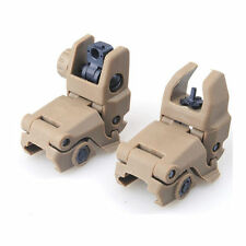Tactical Rapid Transition Front and Rear Flip Up Folding Backup ABS Sight Set
