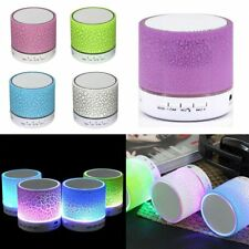 3.5mm LED Portable Mini Bluetooth FM Speaker Wireless Bass For Micro SD/TF New