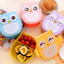 Owl Lunch Box Bento food-safe Plastic Food Picnic Container Portable Box ED