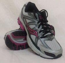 New! Women's Saucony Grid Ramble TR2 Running Shoes Sz 7 Silver/Purple 151851 C58