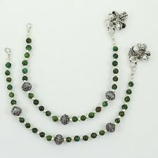 Silver Tone Oxidized Anklet Ethnic Indian Fashion Party Jewelry-ASA227-PAR
