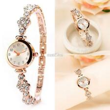 New Fashion Women Stainless Steel Crystal Dial Quartz Bracelet Wrist Watch AU