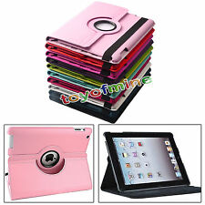 "New 360°Rotating Folio Stand Smart Leather Case Cover For iPad 9.7"" iPad 2 3 4"