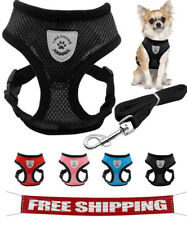 Small Dog Pet Harness and Leash Set Puppy Vest Pink,red, Blue  Black For Chihuah