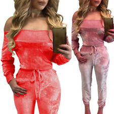Womens Backless Casual Fashion New Sexy Long Sleeve Off Shoulder Jumpsuit Romper