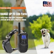 Waterproof Rechargeable Remote LCD Electric Dog Training Shock Collar PLUG New