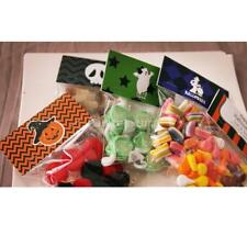 100pcs Halloween Pumpkin Treat Bags Party Gift Cellophane Candy Cookie Favor Bag