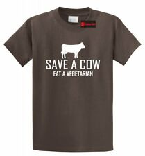 Save A Cow Eat Vegetarian Funny T Shirt Meat Lover Hunter Humor Tee