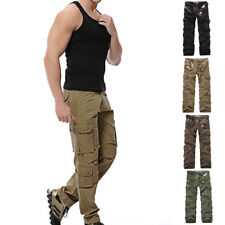 2017 New Mens Casual Military Army Cargo Camo Combat Work Pants Trousers Pant
