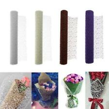 1 Roll Romantic Flower Gift Wrapping Tulle DIY Jacquard Flowers Packing Material