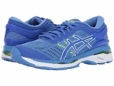 ASICS GEL KAYANO 24 BLUE WHITE WOMENS D WIDE RUNNING SHOES  **WORLDWIDE SHIPPING