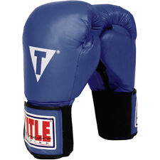 Title Boxing Classic Hook & Loop Leather Training Gloves - Blue