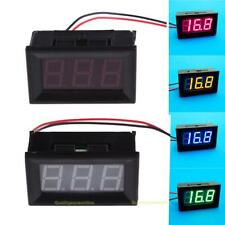 #QZO New Direct Current 2 Wires 0.56 Inches LED Voltmeter Panel Mini Volt Meter