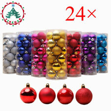 24× 30mm Christmas Xmas Tree Ball Bauble Hanging Party Ornament Decorations New