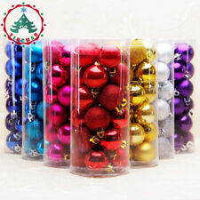 24Pcs 30mm Christmas Xmas Tree Ball Bauble Hang Party Ornament Decorations Hot