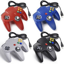 NEW Color Retro Wired Classic Nintendo 64 N64 USB Controller for PC MAC Computer