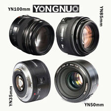 Yongnuo YN 35mm 50mm 85mm 100mm EF AF / MF Prime Fixed Lens for Canon EOS Photo