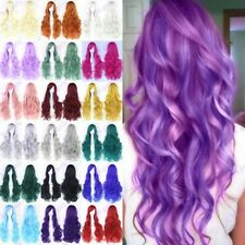 Long Wave Synthetic Hair Full Wig Colorful Anime Hair Fancy Costume Cosplay H58