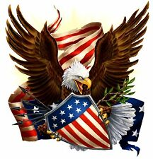American Bald Eagle Flag Stars Shield USA T-Shirt, ap80018