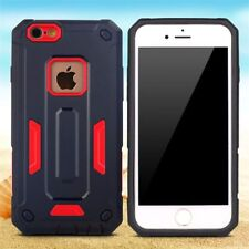 New Armor Hard Case Cover For Apple iPhone 6/6s + screen protector black/red