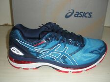 ASICS MENS NIMBUS 19 RUNNING SNEAKERS- SHOES- T700N-4301- DIVA BLUE/ WHITE