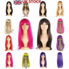 11+ Women Cosplay Fake Straight Hair Full Long Wig Party Cosplay Costume Make Up
