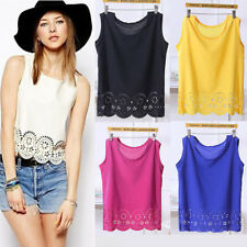 Women Girls Summer Vest Top Sleeveless Camisole Casual Tank Tops T-Shirt Blouse