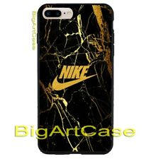 Best New Nike Gold Marble Logo Hard Plastic Case Cover iPhone 6s/6s+/7/7+/8/8+