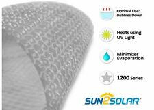 Sun2Solar® Round, Oval, Rectangle Swimming Pool Clear Solar Blanket Cover-12 Mil