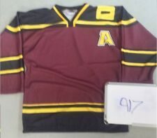 """BLANK Chicago Wolves """"Alpha Wolf"""" Maroon AHL Minor League Hockey Jersey 917"""