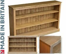 Contemporary Solid Pine 3ft x 5ft Adjustable Display Bookcase, Bookshelves