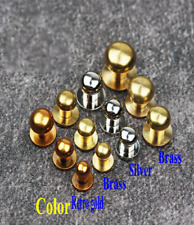 5pcs Leather Craft DIY Pure Brass Monk Head Handmade Nipple Nails Tool Fitting