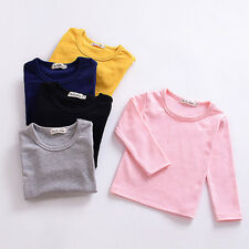 Girl Clothes Cotton T-Shirt Kids Blouse Autumn Long Sleeve Cute Baby Tops