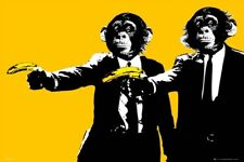 New Hands Up! Monkeys With Bananas Poster