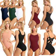 Women's Stretchy Dancers' Wear Ballet Leotard Gymnastics Dance Yoga Bodysuit Gym