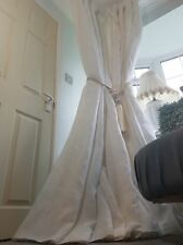 NEW Quality 100%Irish White Linen Blackout Thermal Lined Heavy Curtains