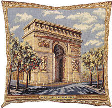 Arc De Triomphe French Tapestry Cushion Pillow Cover - 18 x 18 - NEW