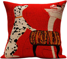 Dalmatian Dog French Tapestry Cushion Pillow Cover - 18 x 18 - NEW