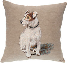 Rocky Dog French Tapestry Cushion Pillow Cover - 18 x 18 - NEW