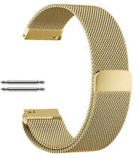 Gold Tone Magnetic Clasp Steel Metal Mesh Milanese Bracelet Watch Band Strap