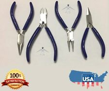 4PCS of Jewelry Pliers Set Cutting Bending Tools Comfort Grip Box Joint *NEW
