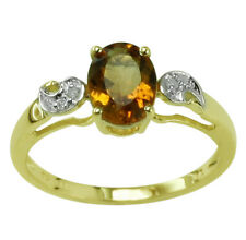 Beautiful Madeira Citrine 1.09 Ct With Natural Zircon Ring Eternity Gold Jewelry