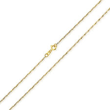 Men Women 14K Two Tone Gold Chain 1.5mm Fancy Twisted Box Chain Necklace