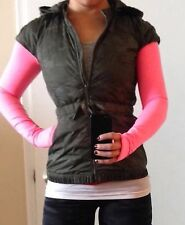 NWT lululemon Spring Fling Puffy Down Vest Savasana Fatigue Green Camo 6 8 10