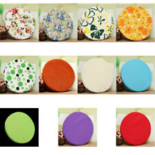 Soft ROUND Circular Chair Cushion SEAT PAD Kitchen Dining REMOVABLE cover 8Color